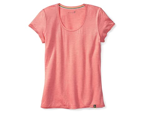Amazon.com: Smartwool Solid Scoop Tee - Women's Bright Coral X ...