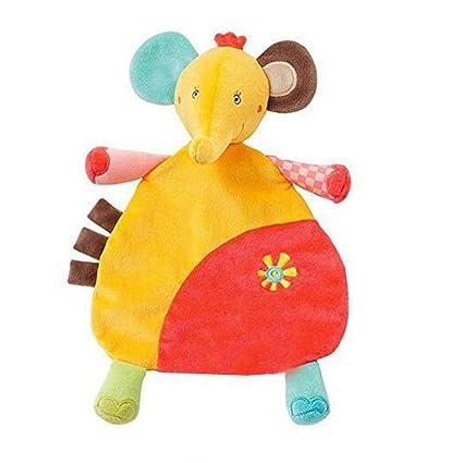 Delicacydex Toalla para bebé Dibujos Animados encantadores Juguete Tranquilo para bebés Forma de Aminal Bebé Apaciguar