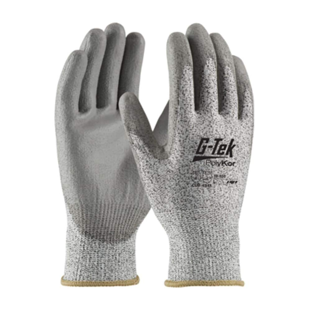 G-Tek CR; S&P HPPE 13G Shell; Gry. PU Coated Palm; EN3; Size XL, Pack of 5 by protective-industrial-products (Image #1)