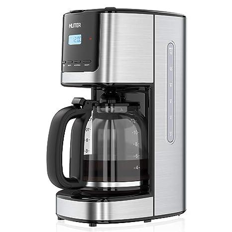 Amazon.com: MLITER - Cafetera programable con 12 tazas y ...