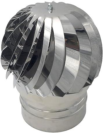 Einside AISI304 - Sombrero de Chimenea Extractor de Humo Giratorio de Viento, Acero Inoxidable, 100 mm: Amazon.es: Bricolaje y herramientas