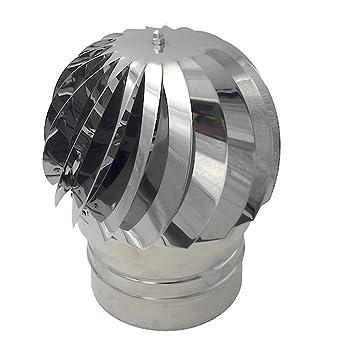 Extractor de humo giratorio de viento inoxidable, base redonda, sombrero eolico de chimenea, todas las dimensiones...: Amazon.es: Bricolaje y herramientas