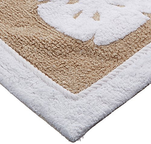 """Can Bathroom Rugs Be Washed: Avanti Linens Sea And Sand Bath Rug 20"""" X 30"""" Linen/White"""