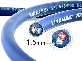 Van Damme Blue Series Studio Grade 2 x 2.5 mm (14AWG) - 1M Speaker Câble