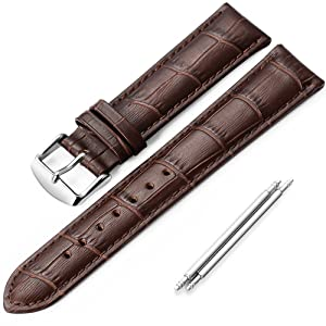 iStrap 18mm 19mm 20mm 21mm 22mm Black Brown Geunine Calf leather Watch Strap Replacement Watch Band Super soft