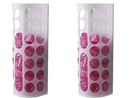 ikea variera plastic bag dispenser white 2pc