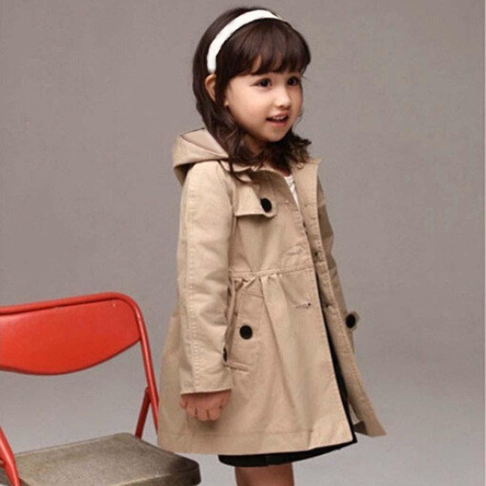 Baby Girls Spring Autumn Clothes Detachable Hood Wind Proof Coat Windbreaker