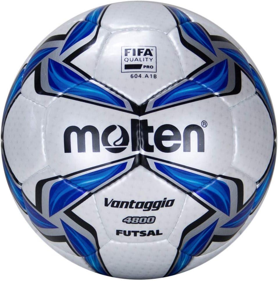 MOLTEN Futsal - Balón de fútbol, Color (weiß/Blau/Silber), Talla 4 ...