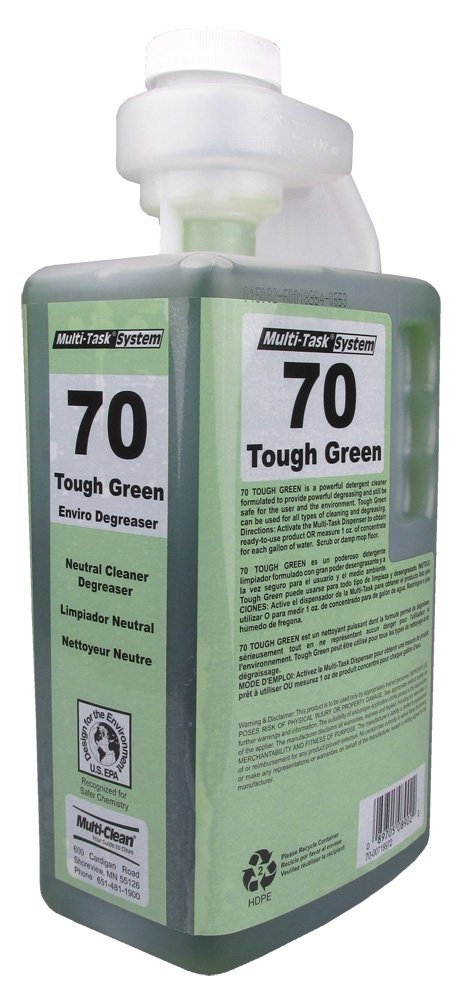 Multi-Clean 908979 70 Tough Green All Purpose Cleaner and Degreaser Concentrate, EPA Safer Choice Certified, Squeeze and Pour Dilution Control (Pack of 4)