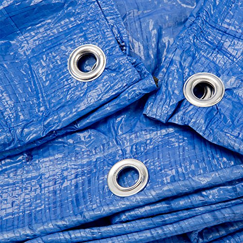 B-Air GTRP912 Grizzly Tarps 9 x 12 Feet Blue Multi Purpose Waterproof Poly Tarp Cover 5 Mil Thick 8 x 8 Weave by B-Air (Image #6)