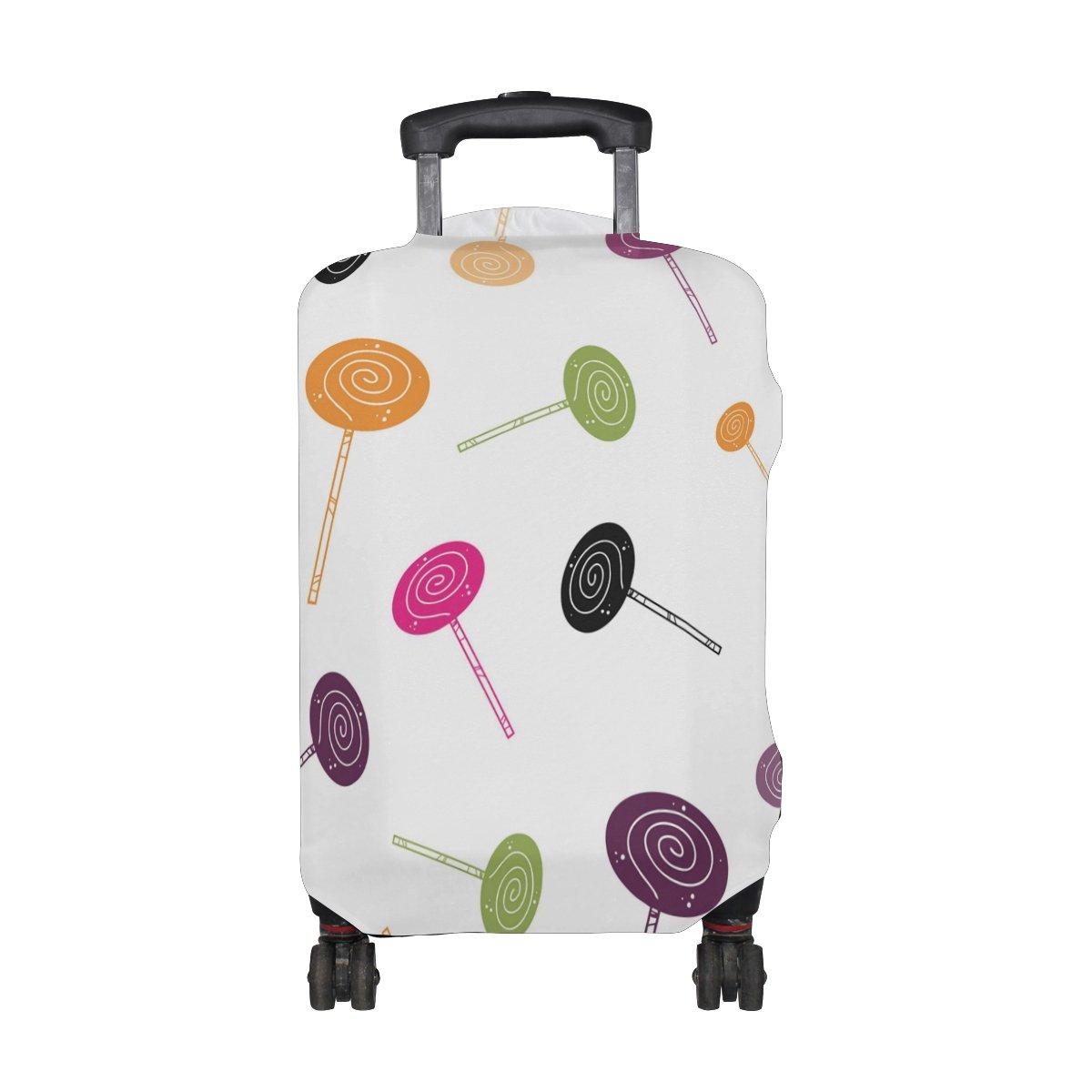 COOSUN Caramelo de Halloween de la impresión del modelo del equipaje del viaje cubiertas protectoras lavable Spandex equipaje Maleta Cubierta - Se adapta a ...
