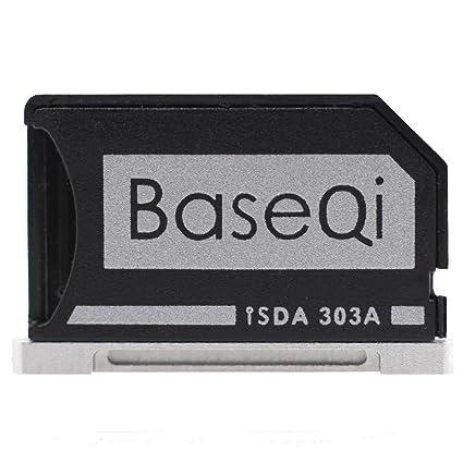 Baseqi aluminio adaptador de tarjeta microSD for Macbook Pro Retina 13
