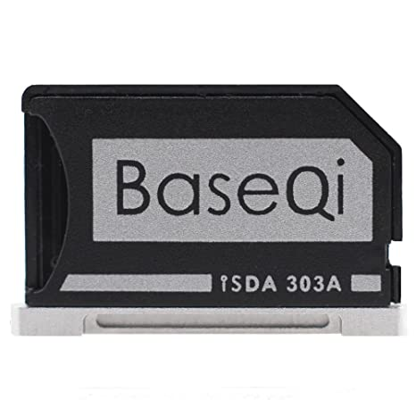 Baseqi aluminio adaptador de tarjeta microSD for Macbook Pro Retina 13