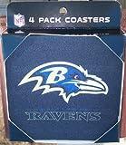 NFL Baltimore Ravens Neoprene Coaster, 4-Pack