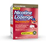 GoodSense Nicotine Lozenge 4 mg, Reduce Nicotine Cravings and Stop Smoking with a Nicotine Replacement Therapy, 108 Count