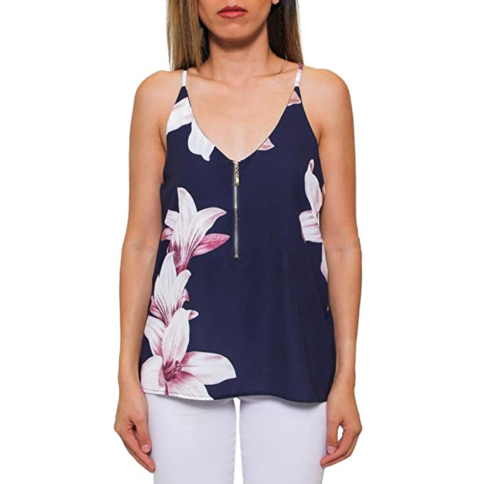 b1bdb9a2ef4e Amazon.com  Paymenow Floral Tank Tops For Women