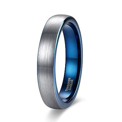 Wedding Band Men.Shuremaster 4mm 6mm 8mm Tungsten Rings For Men Women Engagement Wedding Band Blue Silver Comfort Fit Size 4 15