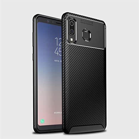 los angeles a69fb 14884 Bounceback ® Samsung Galaxy A8 Star Back Case Cover Carbon Fiber Slim TPU  Soft Shock Proof Stand Back Cover for Samsung Galaxy A8 Star - Midnight ...