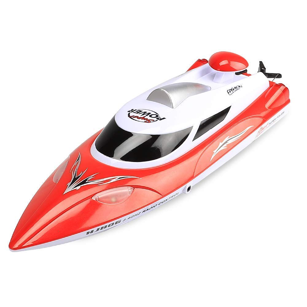 Surbro 35km//h High-Speed RC Racing Boat 2.4GHz Remote Control Speed Boat 200 Meters Range with Light Green