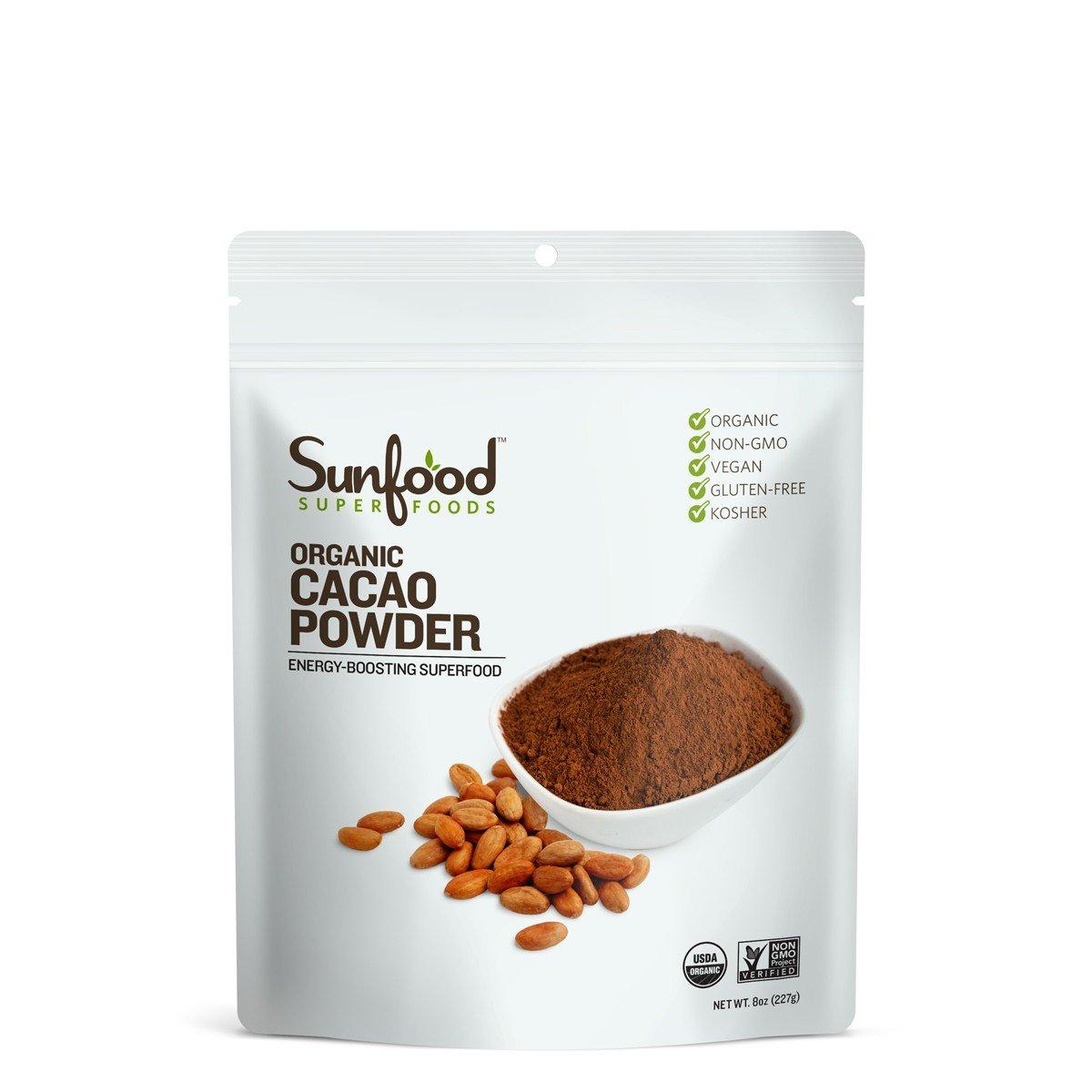 Sunfood Cacao Powder, 8 Ounces, Organic