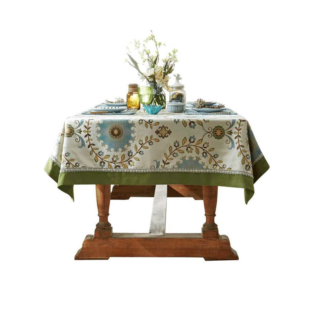 AMY Amerikanische Farbgewebe Tischdecke europäischen Couchtisch Kissen Tischdecke Café Restaurant Tisch Matte Tischdecke (Farbe   Grün, Größe   140  200cm) Grün 130130cm