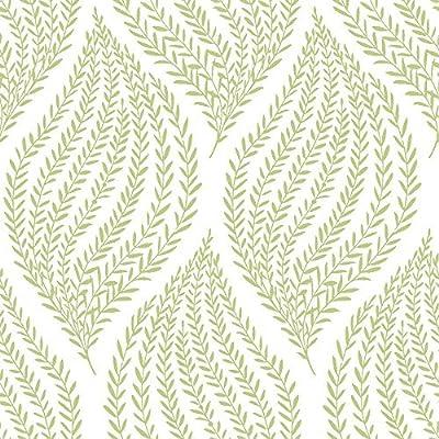 Nuwallpaper Nu1688 Fern Lime Green Peel Stick Wallpaper By Nuwallpaper Amazon Co Uk Diy Tools