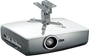Mount-It! Projector Ceiling Mount for Epson, Optoma, Benq, ViewSonic LCD/DLP Projectors with Adjustability, Compact Universal Bracket Design, 44lb Load Capacity, Silver