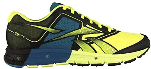 168539e72a9570 Reebok One Cushion Mens Running Shoe Black-Yellow-Blue 11.5 D(M) US  Buy  Online at Low Prices in India - Amazon.in
