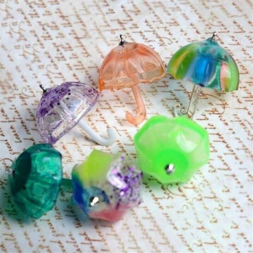 4 unids//set Decoraci/ón para el Hogar Joyer/ía Herramienta Fondant Herramientas Hecho a Mano DIY Silicona Moldes 3D Paraguas Forma Cristal Epoxy Molde