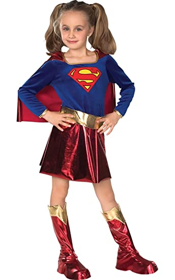 Super DC Heroes Supergirl Toddler Costume (Size 2-4)  sc 1 st  Amazon.com : superhero child costume  - Germanpascual.Com