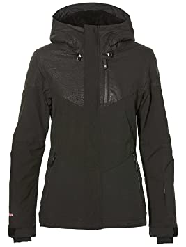 ONeill 8P5026 Chaqueta, Mujer, Negro (Black AOP w) / Rosa