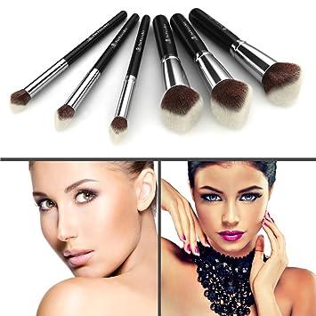 Amazoncom Best 3d Kabuki Makeup Brush Kit 6 Synthetic Brushes - Kabuki-makeup