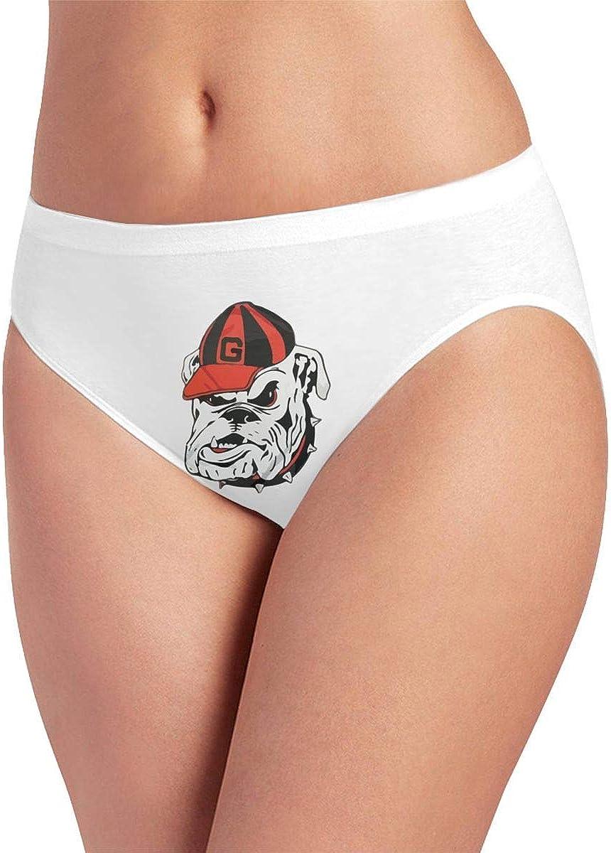 Georgia Bulldogs Logo Womens Underwear Briefs Hipster Panties Panty