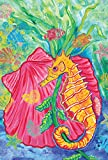 Toland Home Garden Undersea Seashell and Seahorse 12.5 x 18-Inch Decorative USA-Produced Garden Flag