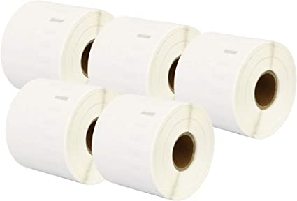 Etichetta per rotolo: 220 per Dymo LabelWriter 4XL 450 400 330 320 310 Twin Turbo Duo Seiko SLP 450 400 200 120 100 Pro Plus Printing Pleasure Compatibile Rotolo 99017 50mm x 12mm Etichette adesive