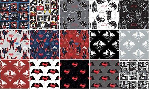 Dawn of Justice 15pc Fat Quarter Bundle Batman vs Superman]()