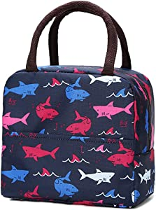 Lunch Bag for Women Insulated Cooler Tote Lunch Box for Men- Reusable Lunch Bag for Outdoor Travel Picnic School(shark)