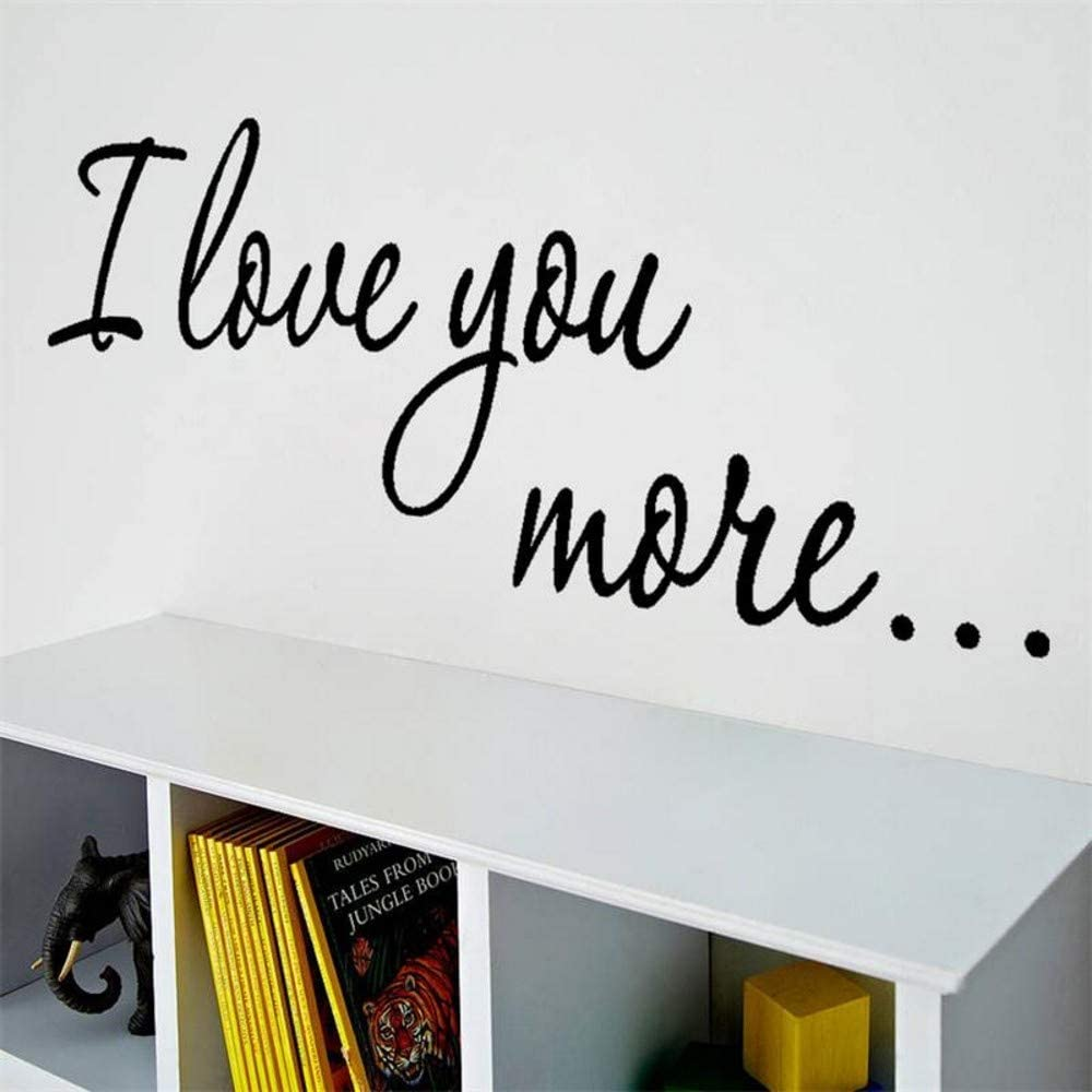 cchpfcc I Love You More Vinyl Wall Decals Children's Girl's Nursery Room Decor Wedding Family Decoration Home Decaorations L53 5615cm