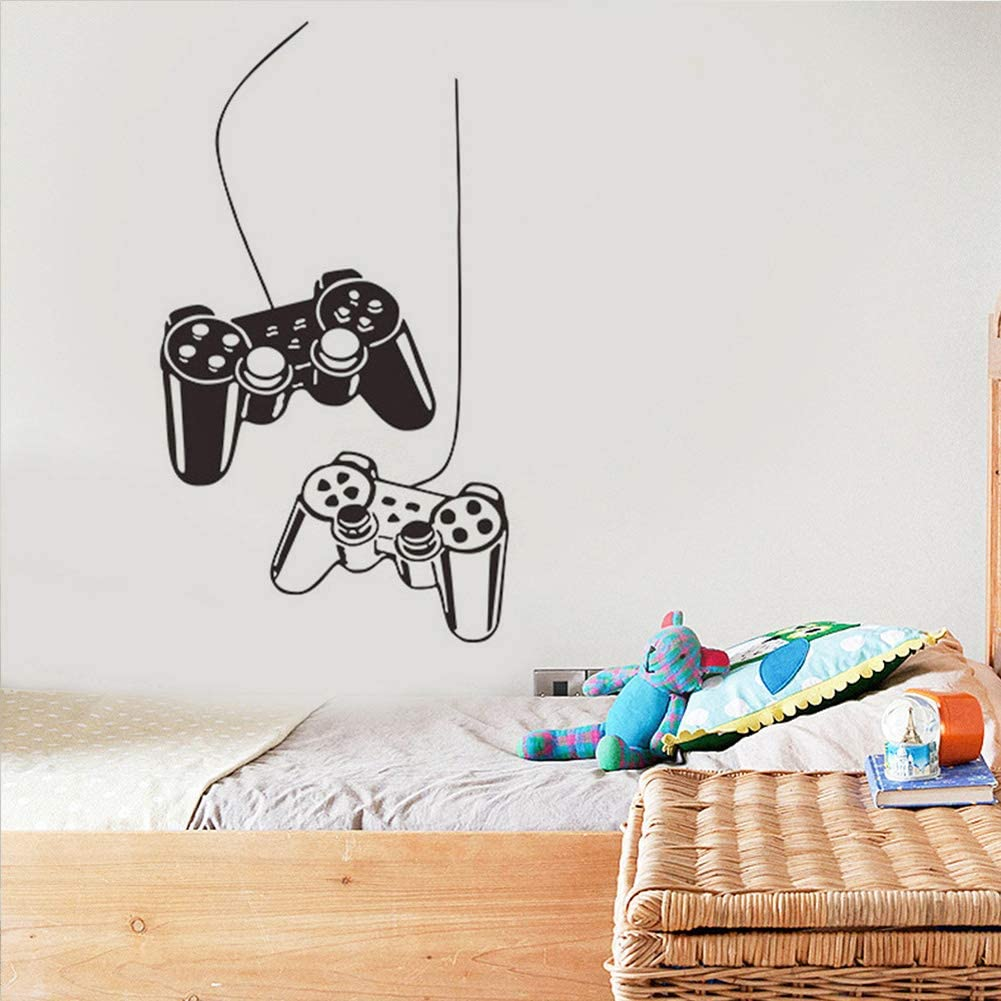 Removable Creative Game Controllers Removable Art Mural Vinyl Art Design Wall Sticker Wall Decals for Bedroom Living Room Decor Removable Art Mural for Boys Kids Men