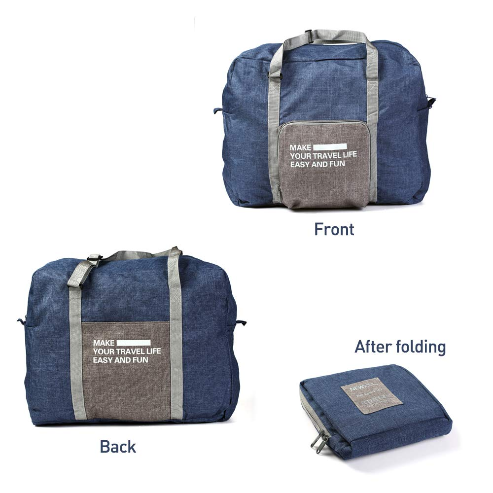 Foldable Travel Duffel Bag Buruis Carry on Luggage Underseat Tote Bag,Water Resistant Lightweight Large Capacity Luggage Bag for Women /& Men