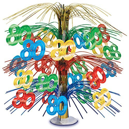80th Multicolor Cascade Centerpiece]()