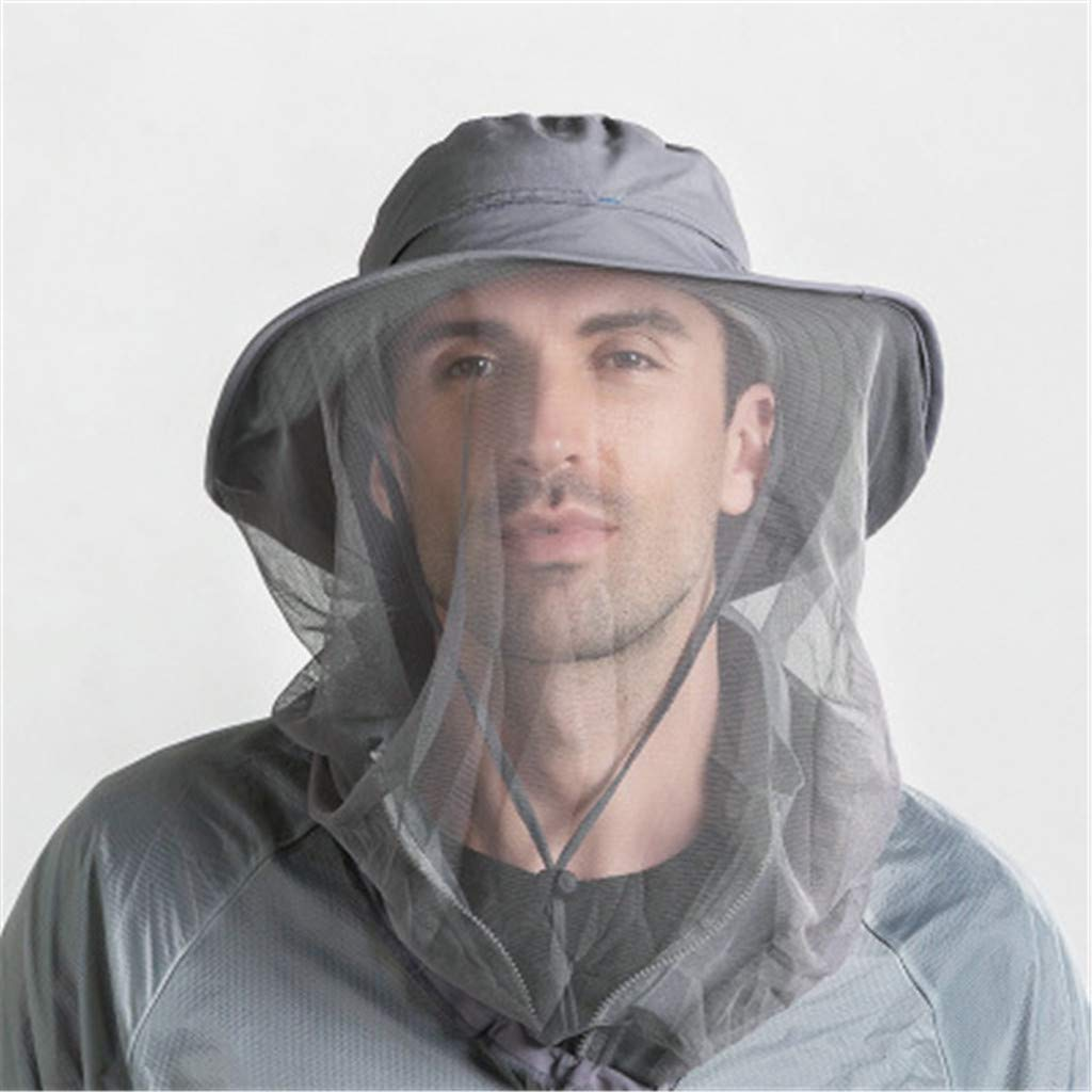 Mosquito Head Net Hat Sun Protection Quick-Drying Fishing Mountaineering Cap for Men or Women