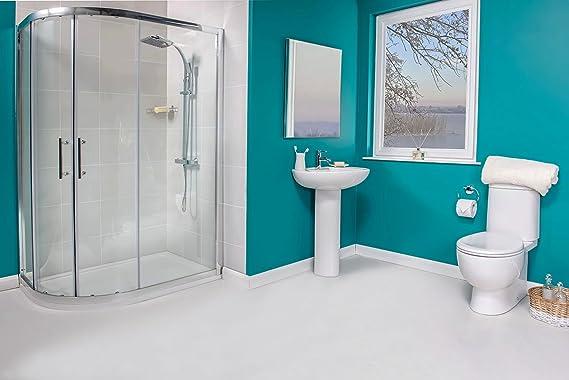 Mampara de ducha cerrada de izquierda de baño funda: Amazon.es: Hogar