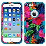 iPhone 6/6 Plus Case, Mybat Tuff Hibiscus Flowers Dual Layer [Shock Absorbing] Protection Hybrid PC/TPU Rubber Case Cover For Apple iPhone 6/6 Plus, Multi-Color