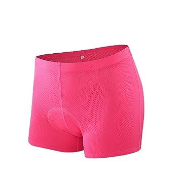 Cortos De Ciclismo De La Mujer-3D Esponja De Gel Acolchado, Pantalones Cortos Transpirable Bicicleta Ligera, Ciclismo Ropa: Amazon.es: Deportes y aire libre