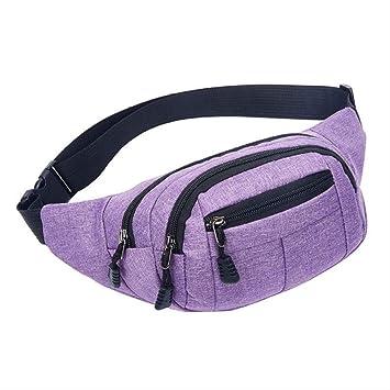 RERU Paquete de la Cintura Mujeres Bolsa Bolsa Hombres Cuatro Bolsas Breast Pack Viaje Hombre Wearable Cinturón Bolsa T Púrpura: Amazon.es: Equipaje