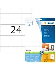 Herma 8644_ A4, 70 x 37 mm - Pack de 240 etiquetas, A4, 70 x 37 mm, color blanco