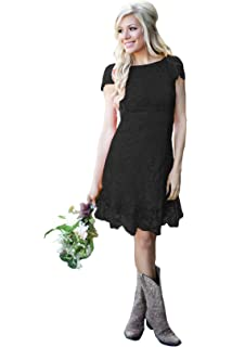 Womens Short Country Bridesmaid Dress Full Lace A Line Wedding Guest Dresses 2019