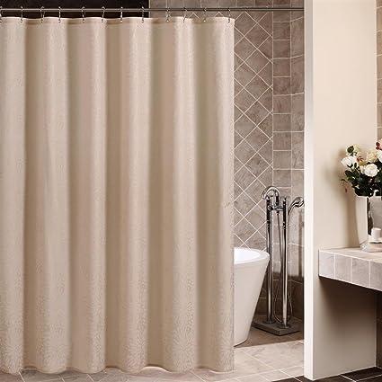 Uphome Light Tan Camel Solid Bathroom Shower Curtain