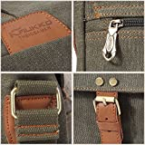 KAUKKO Vintage Men Messenger Bag, Canvas Crossbody